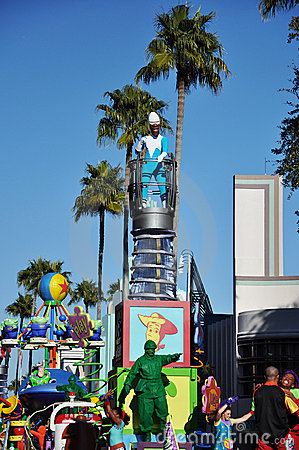 Frozone and Toy Character in Disney World Orlando Editorial Image