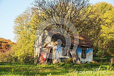 Förstört hus