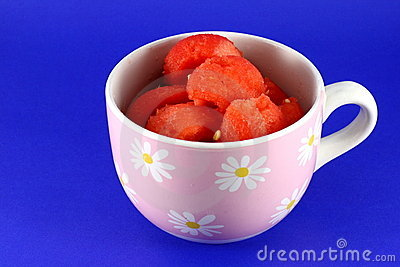 Water melon fruit in cup