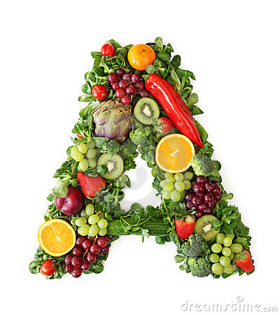 Free Fruit And Vegetable Alphabet Royalty Free Stock Image - 18895466