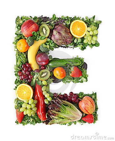 Free Fruit And Vegetable Alphabet Royalty Free Stock Images - 18896999