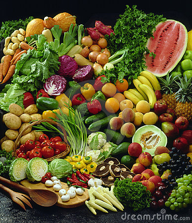 Free Fruit And Vegetable Ensemble Stock Photo - 8973060