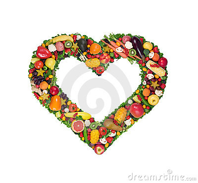 Free Fruit And Vegetable Heart Stock Images - 8138624