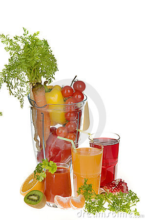 Free Fruit And Vegetable Juices Stock Image - 8050041