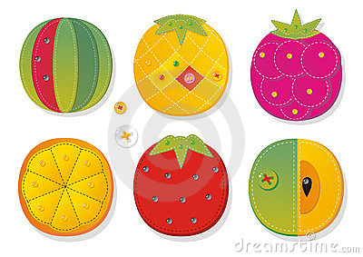 Fruit applique fabric