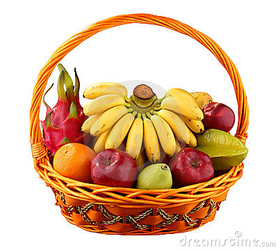 Free Fruit Basket Royalty Free Stock Photo - 18329115