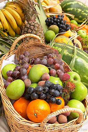 Free Fruit Basket 2 Royalty Free Stock Photography - 119407