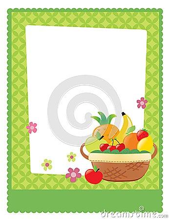 Fruit basket flyer template
