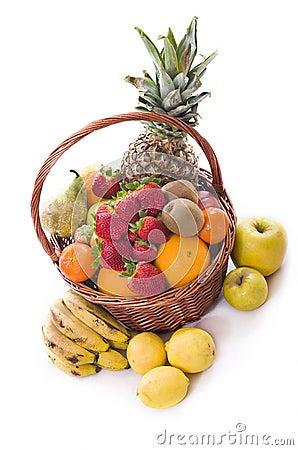 Healthy fruit basket.