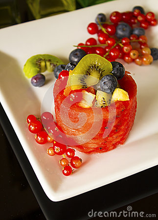 Fruit Basket on White