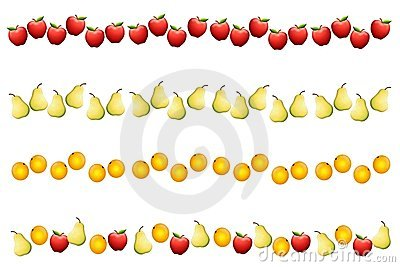 Fruit Borders or Dividers