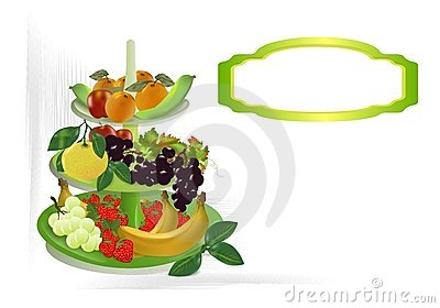 Fruit bowl, cdr vector
