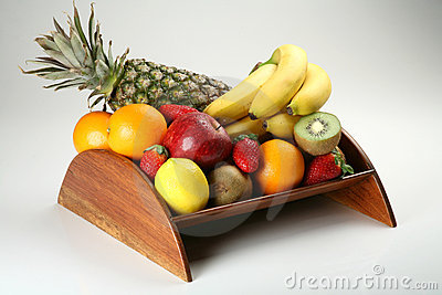Fruit bowl with fresh fruits