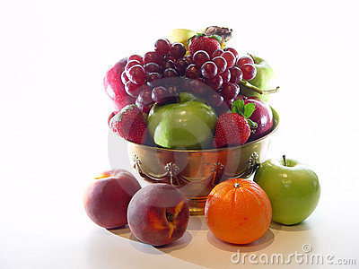 Fruit Bowl with Peaches