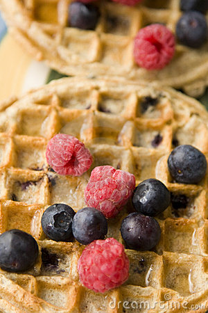 Fruit on Breakfast Waffles