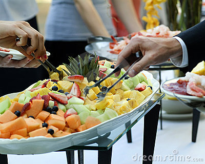 Fruit buffet platter