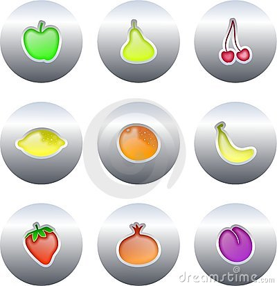 Fruit buttons