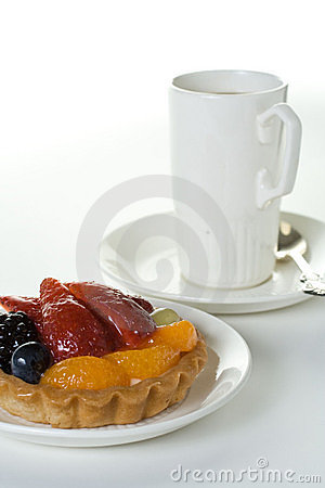 Free Fruit Cake And Cup Royalty Free Stock Images - 3197699