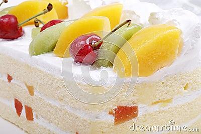 Fruit cake close-up
