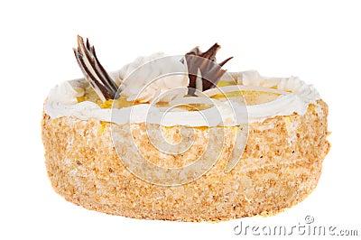 Fruit cake isolated