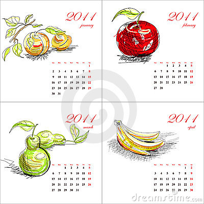 Fruit calendar for 2011