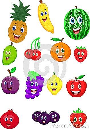 Free Fruit Cartoon Character Stock Image - 45759311