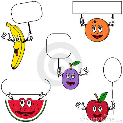 Free Fruit Characters & Posters [1] Stock Images - 9030594