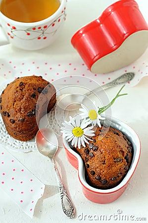 Free Fruit Chocolate Muffins Royalty Free Stock Image - 16005576