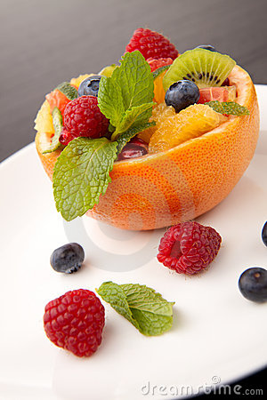 Fruit citrus berry salad