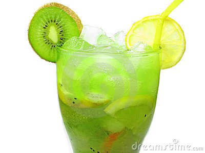Fruit cocktail smoothie with kiwi