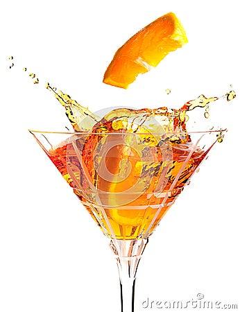 Fruit cocktail splash