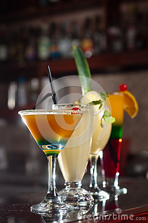 Free Fruit Cocktails Royalty Free Stock Image - 50288156