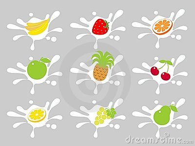 Fruit in cream