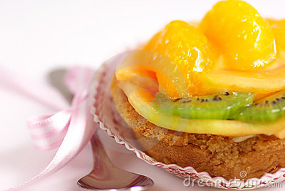 Fruit cup cake