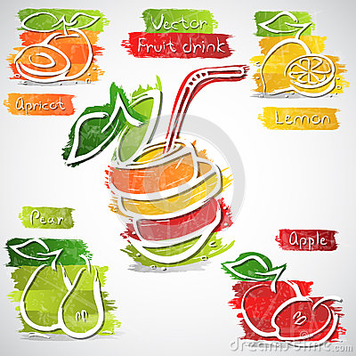 Fruit drink icons