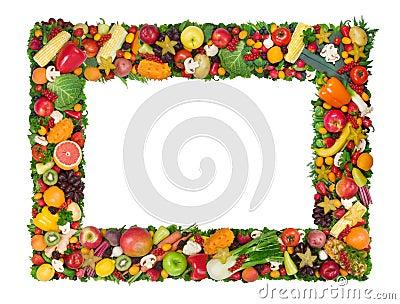 Fruit en plantaardig frame