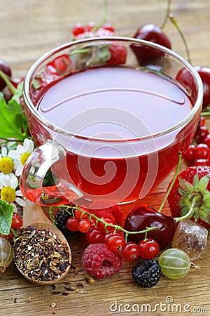 Free Fruit Fresh Berry Red Tea Royalty Free Stock Image - 69551776