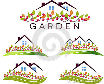 Fruit garden and house