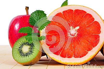 Fruit Grapefruit Apples Kiwi