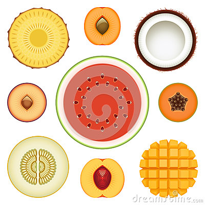 Fruit Halves Set Two