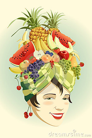 Fruit hat.