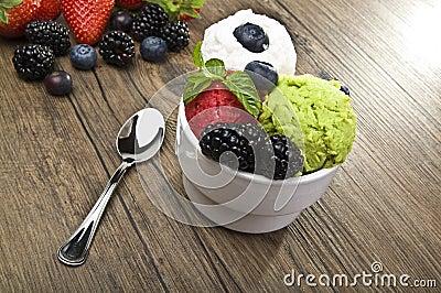 Fruit ice cream