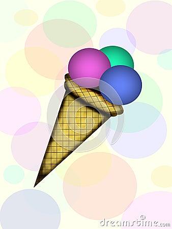Fruit ice-cream