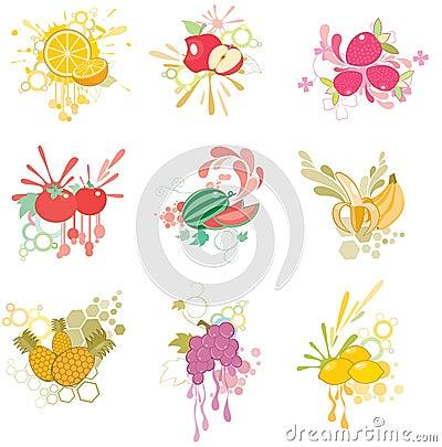 Free Fruit Icon Set Stock Photo - 10610210