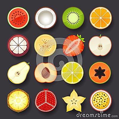 Free Fruit Icon Set Stock Image - 36377521