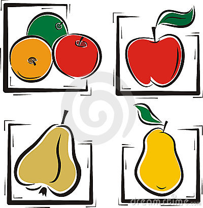 Fruit illustration series