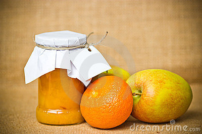 Fruit jam jar