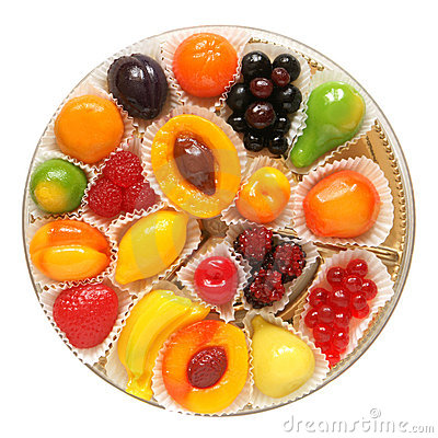 Fruit jelly in box
