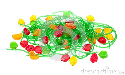 Fruit jelly candy isolated