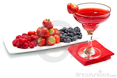 Fruit juice with berries
